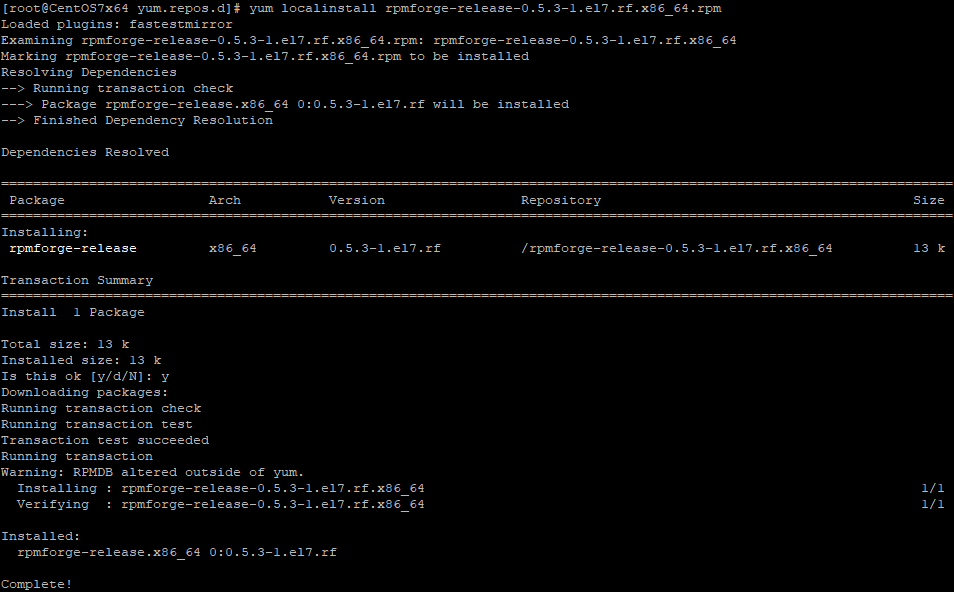 Версия для CentOS 7